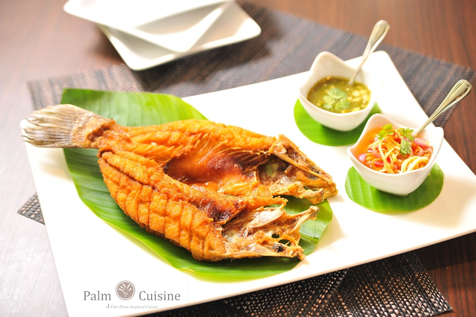 Fried Snapper in seasoned fish sauce