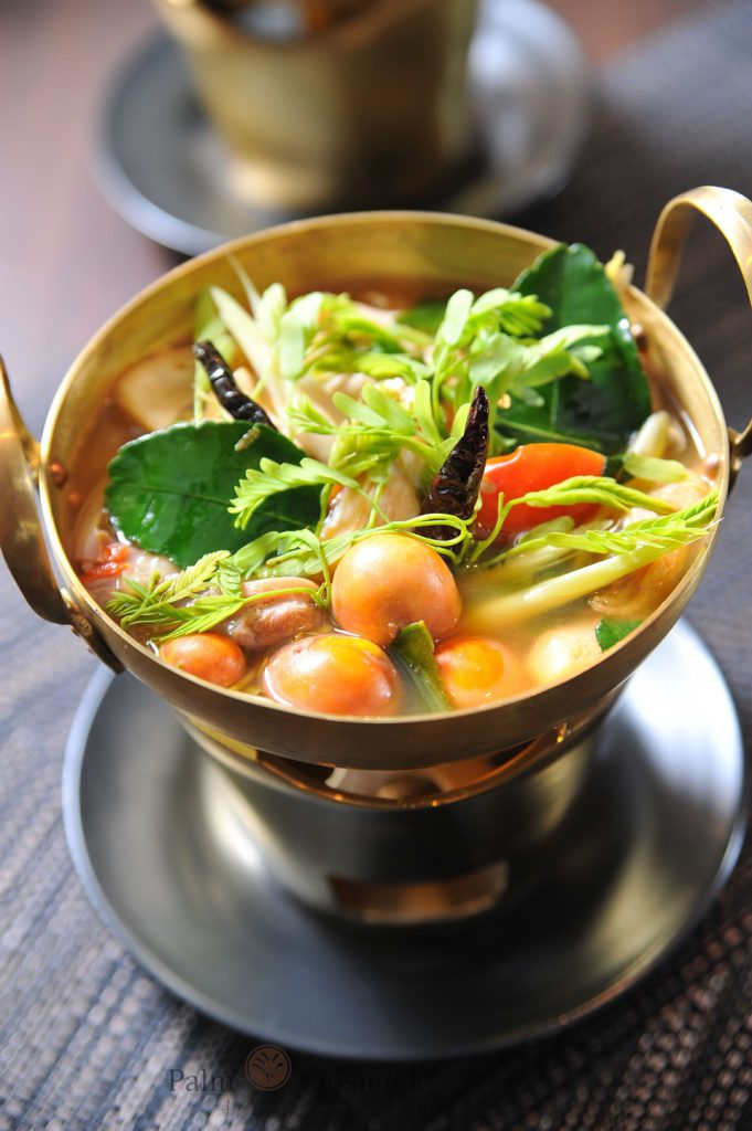 Spicy Chicken Soup with young egg and tamarind leaf