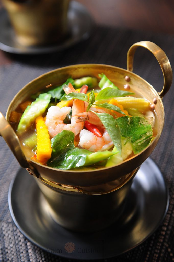 Spicy soup with fresh mix vegetables