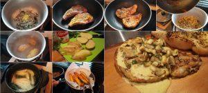 สูตรสเต็กพอร์คชอปราดซอสเห็ดอย่างง่าย (Pork chop steak)