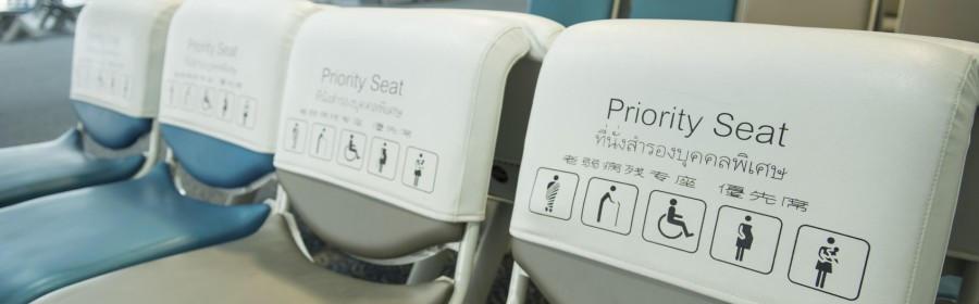 priority seat in the airport