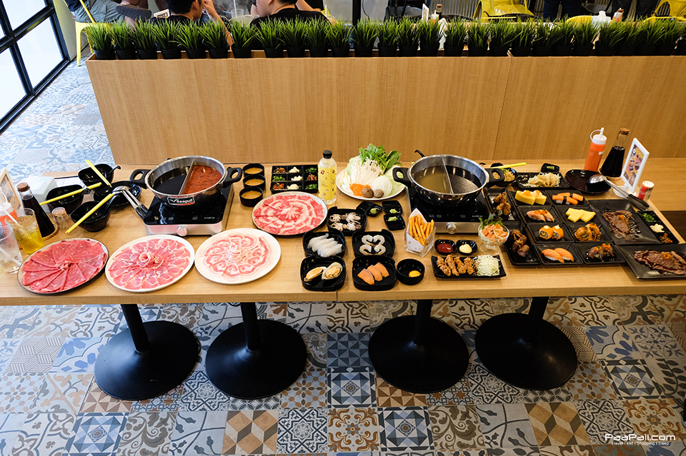 บุฟเฟ่ต์ชาบู อิ่มพุงกาง ฟินซูชิ ที่ Penguin Eat Shabu Buffet