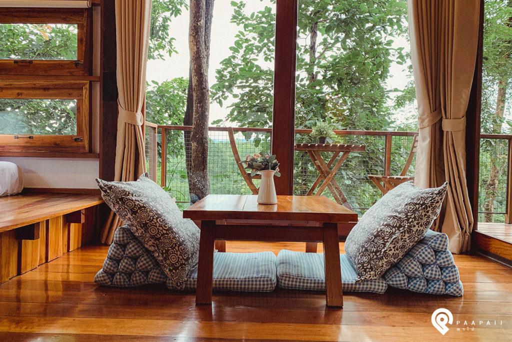 """ธรรมชาติบำบัดใจ พักผ่อนที่บ้านต้นไม้ """"ไร่ต้นรัก"""" จังหวัดน่าน"""