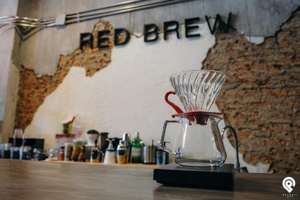 """Red Brew"" คาเฟ่สไตล์ลอฟท์ซอยแบริ่ง"